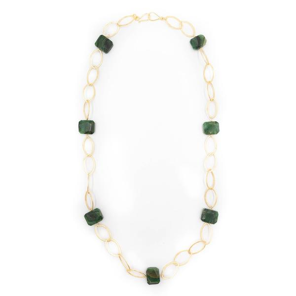 Ikat Necklace, New Ocean Jasper