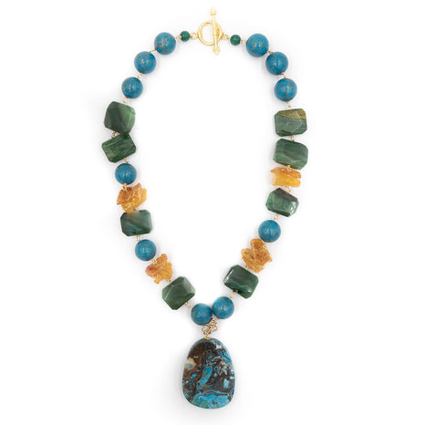 Pinta Necklace, Turquoise