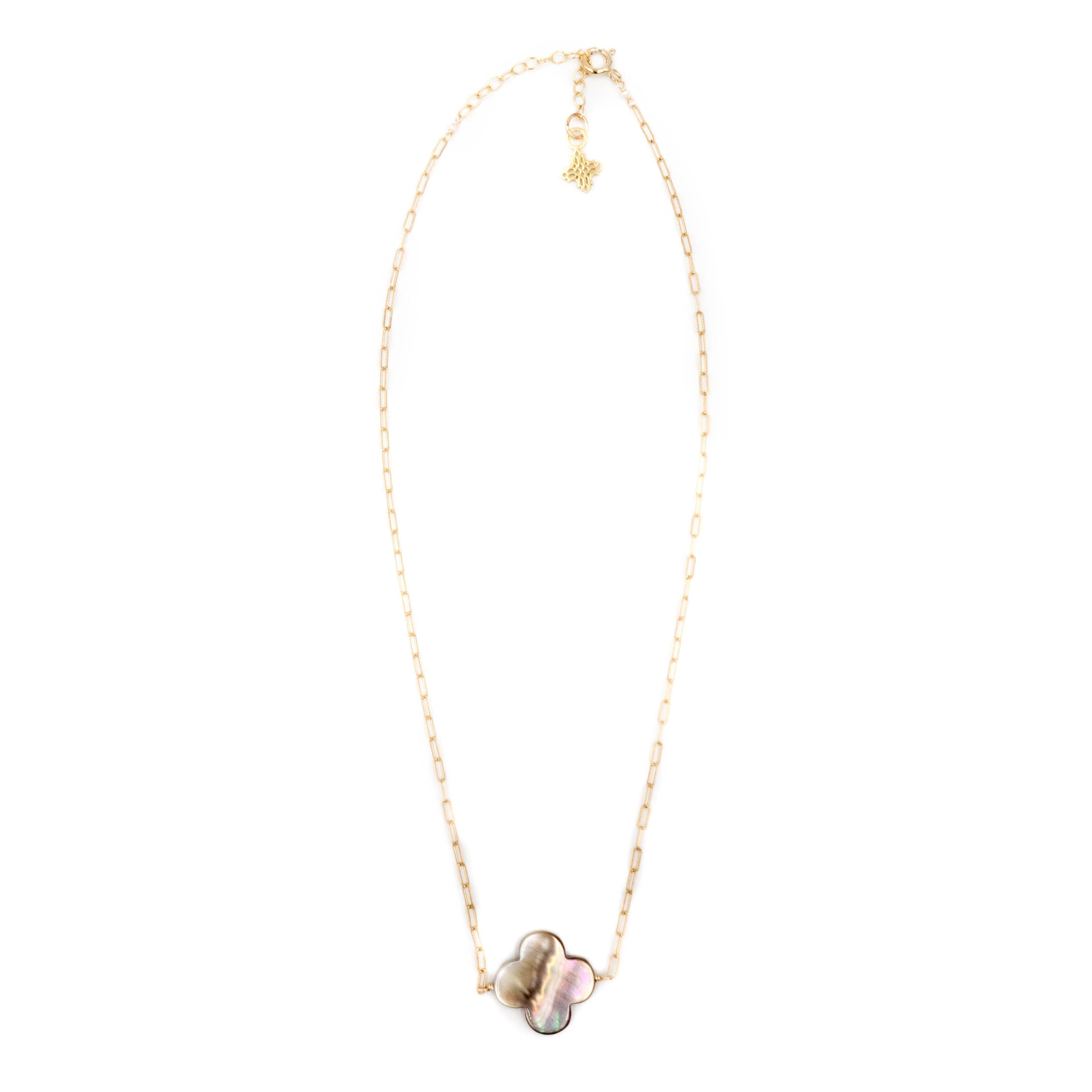Faye Necklace, Gray