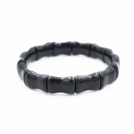 Bamboo Bangle, Black Onyx