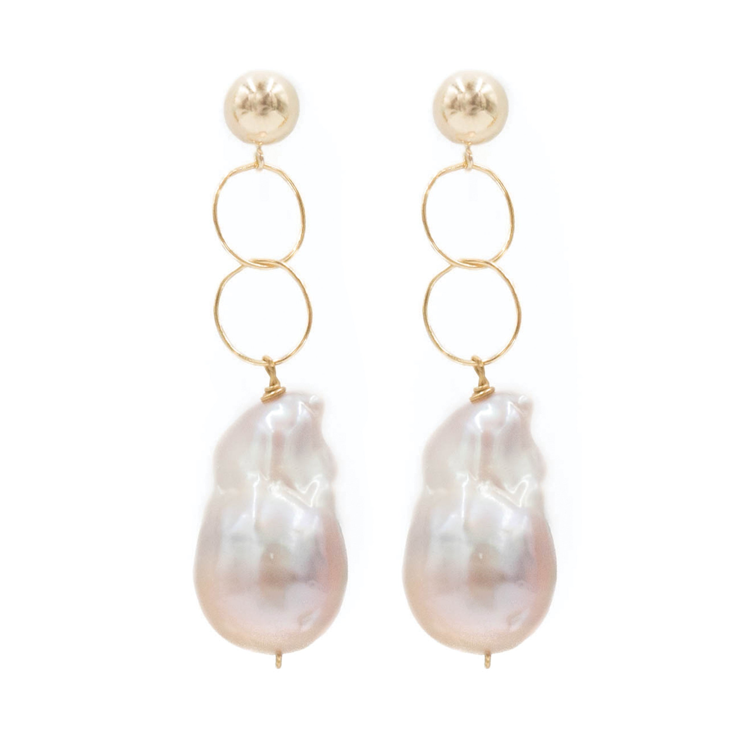 Ingrid Earring, Rose Baroque