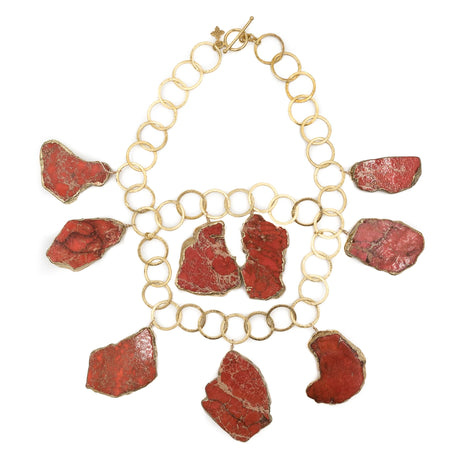 Aspen Necklace, Red Jasper and Gold