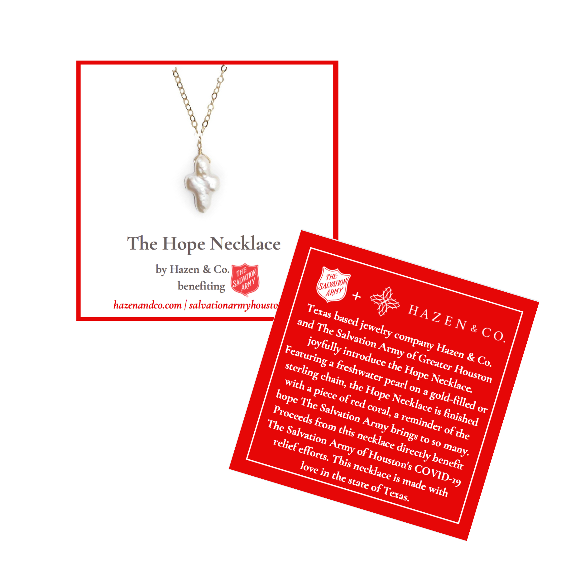 Salvation Army Houston Hope Necklace