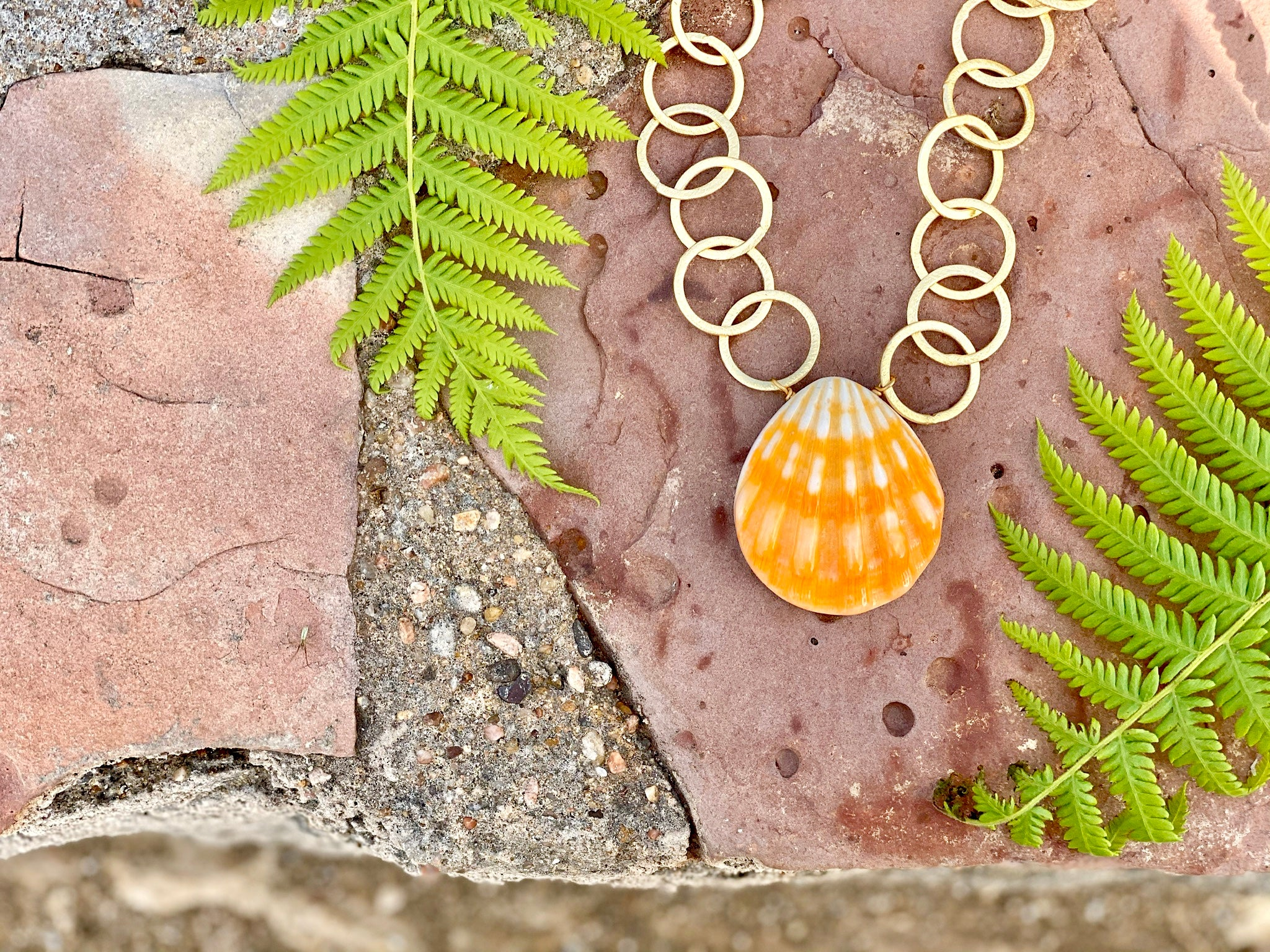 Seaside Necklace, Coral