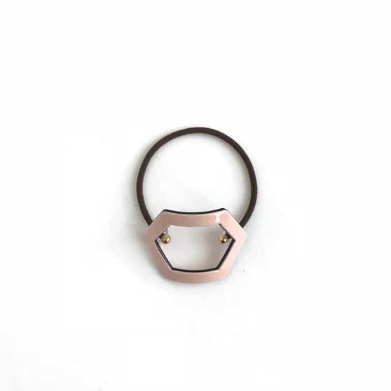 Pink Hexagon Hair Tie