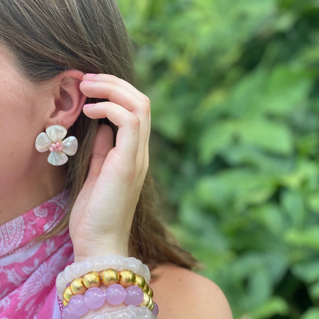 Poppy Earring, Light Pink