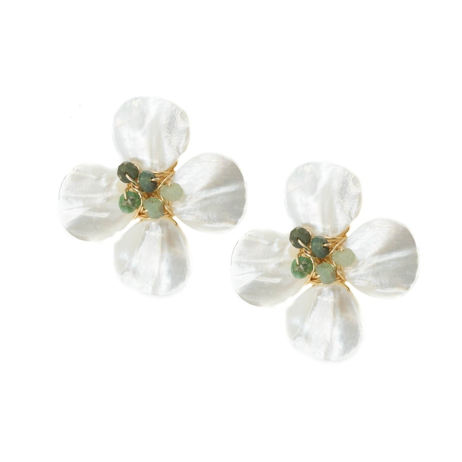 Poppy Earring, Chrysophase