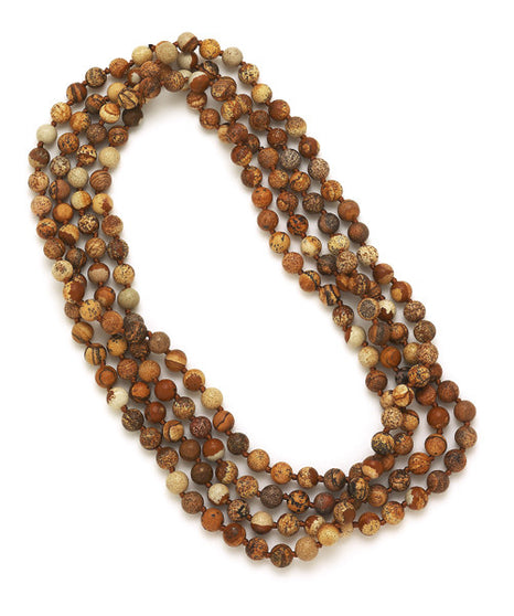 Knotted Brown Jasper Necklace