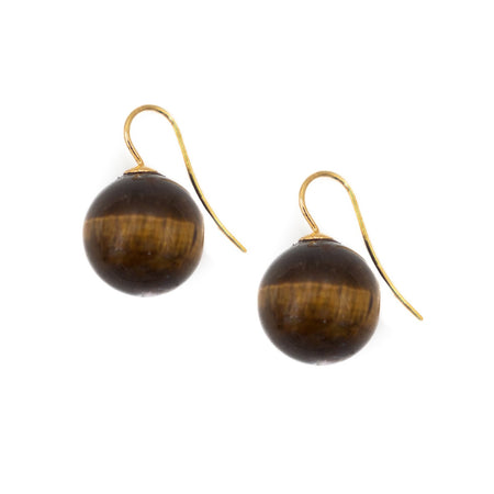 natalie earring, tiger eye