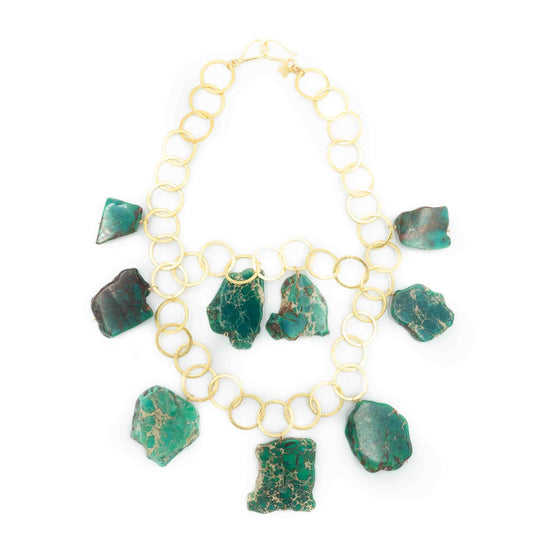 Aspen Necklace, Green Jasper