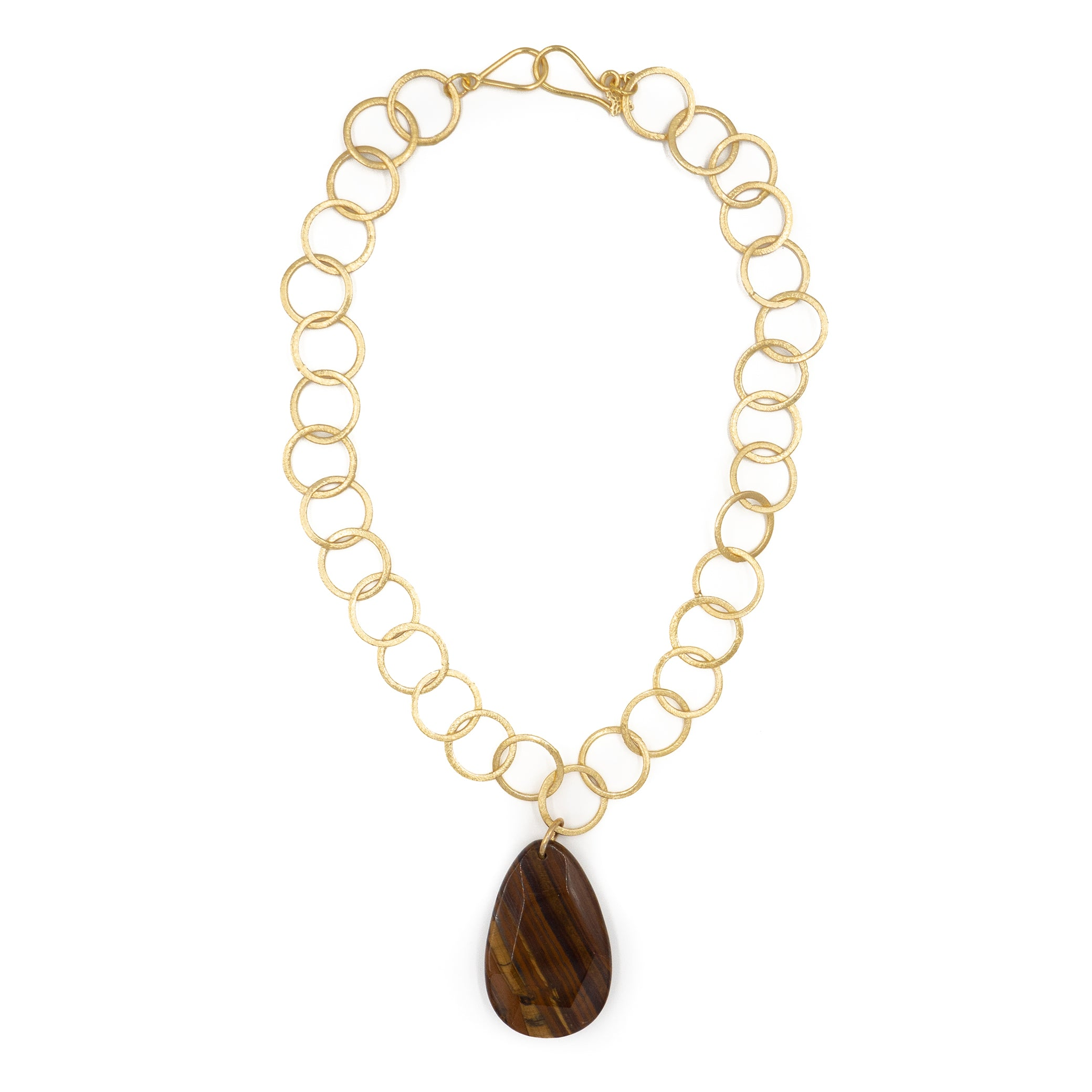 Leslie Necklace, Tiger Eye