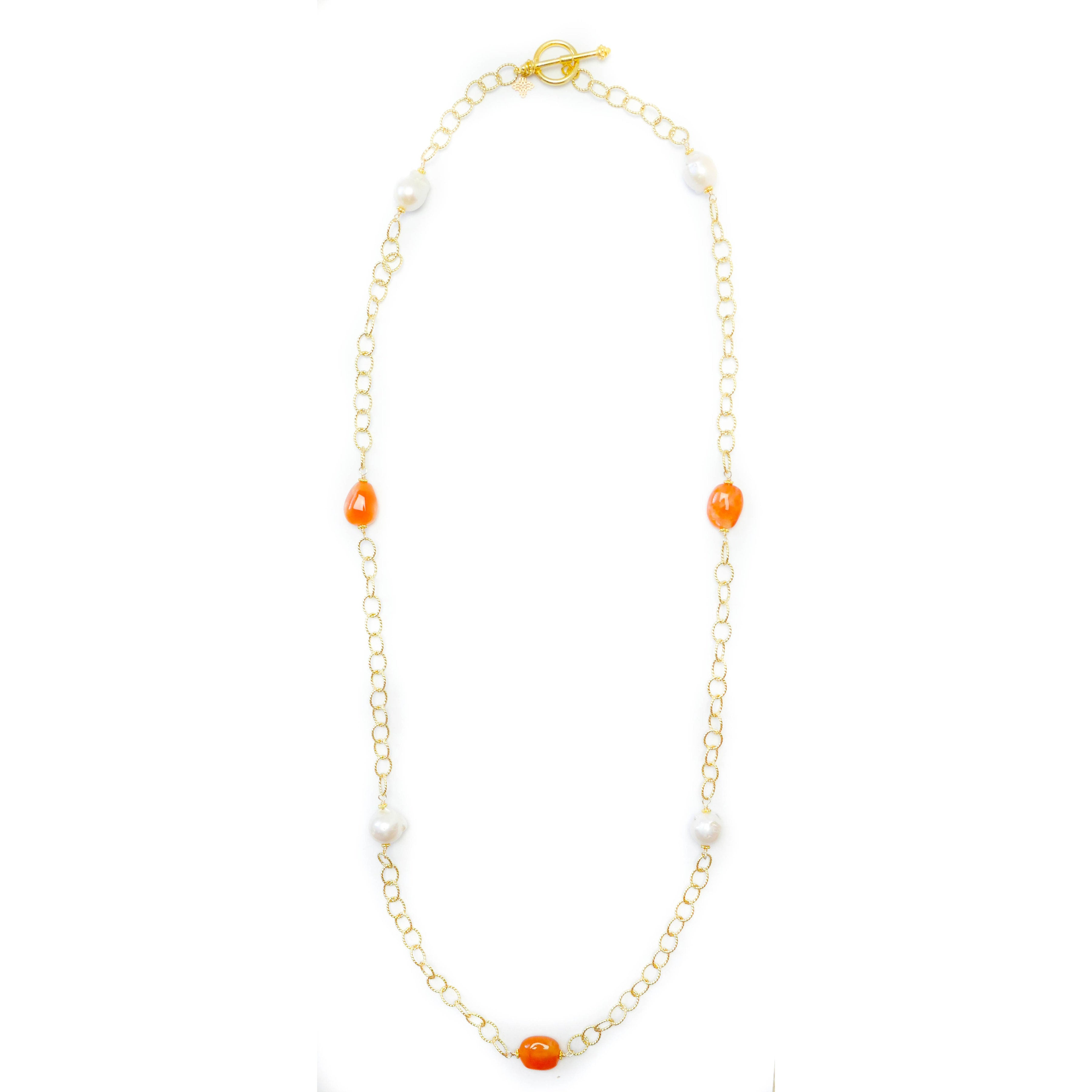 Hartford Necklace, Carnelian