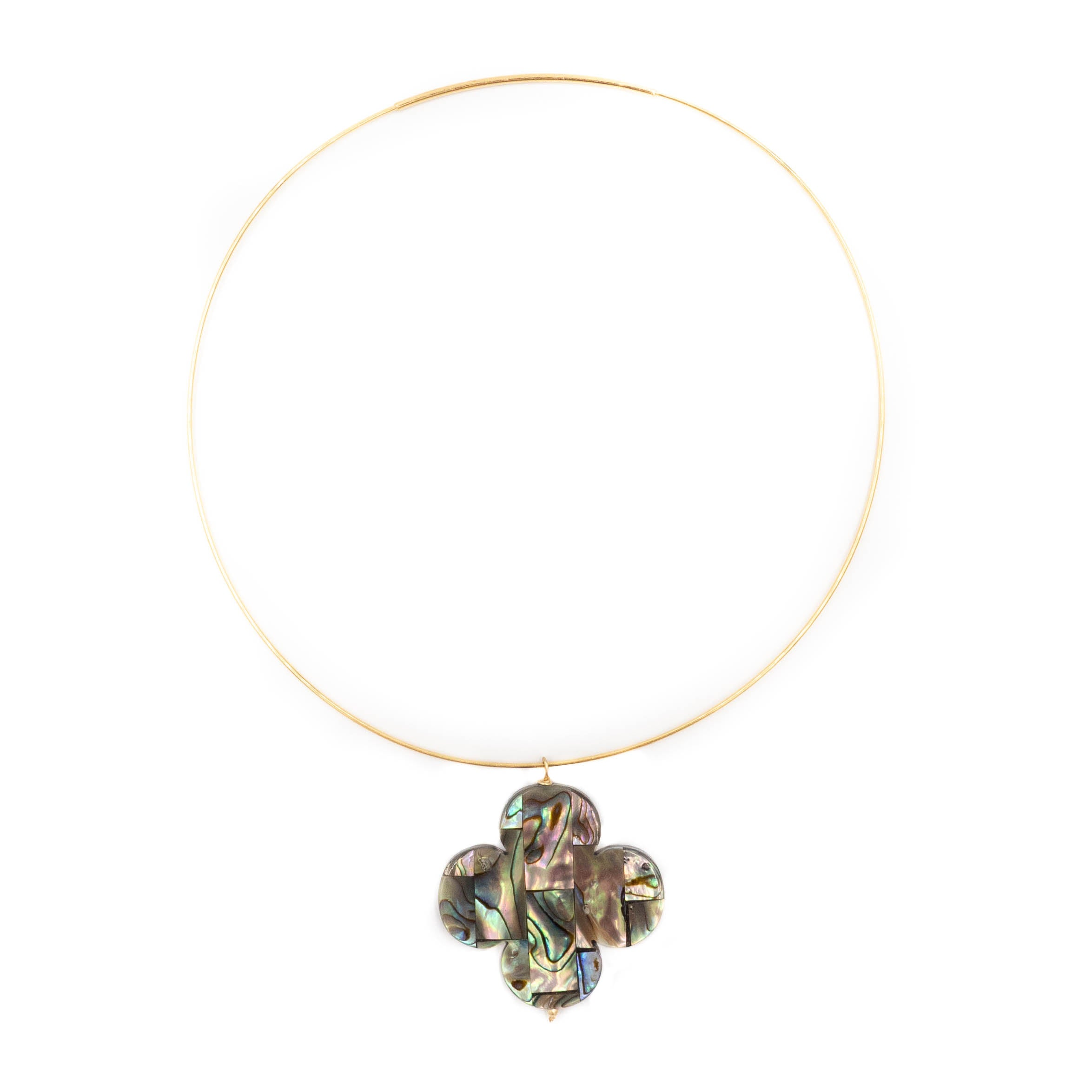 Shelly Necklace, Abalone