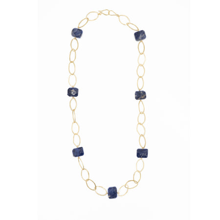 Ikat Necklace, Lapis