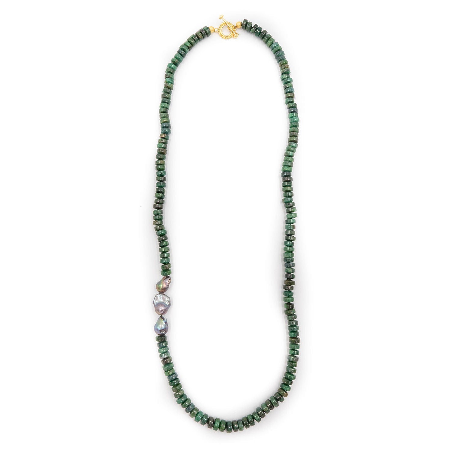 Brentwood Necklace, Emerald Green