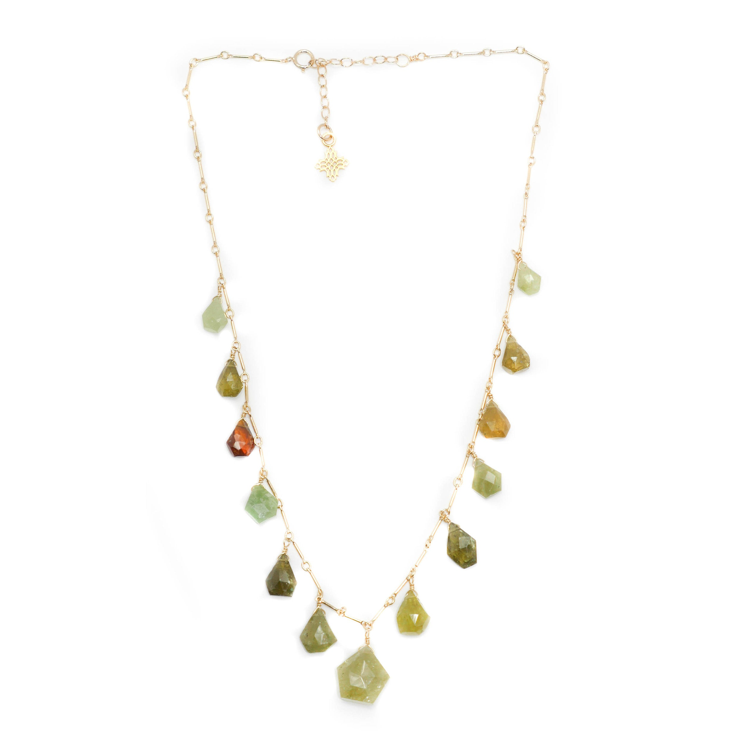 Bristol Necklace, Green Garnet