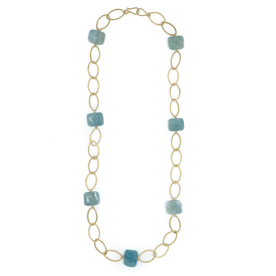 Ikat Necklace, Amazonite