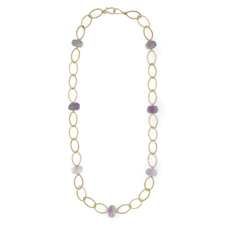 Ikat Necklace, Kunzite