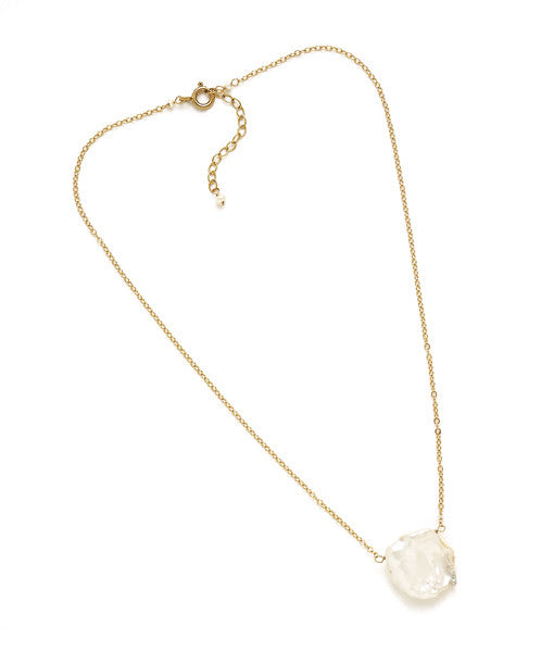 Eva Necklace, White Cornflake Pearl