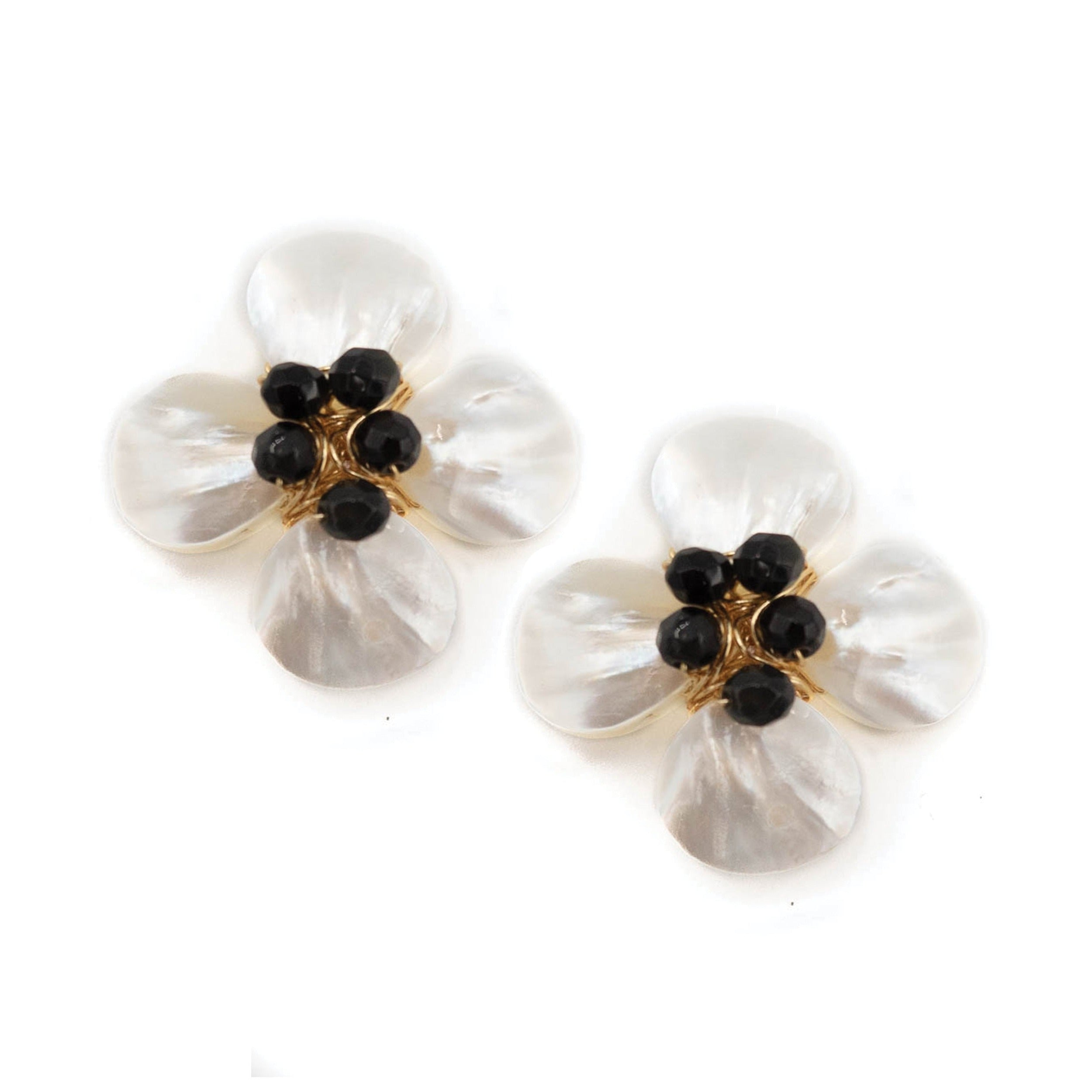 Poppy Earring, Black Onyx