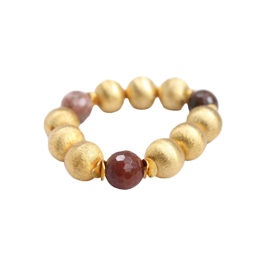 Madison Bracelet, Clay Agate