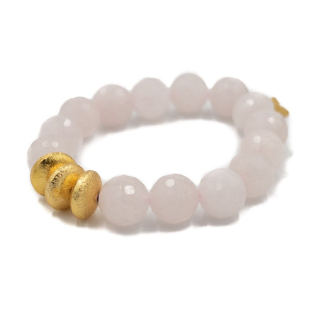 Sheldon Bracelet, Rose Quartz