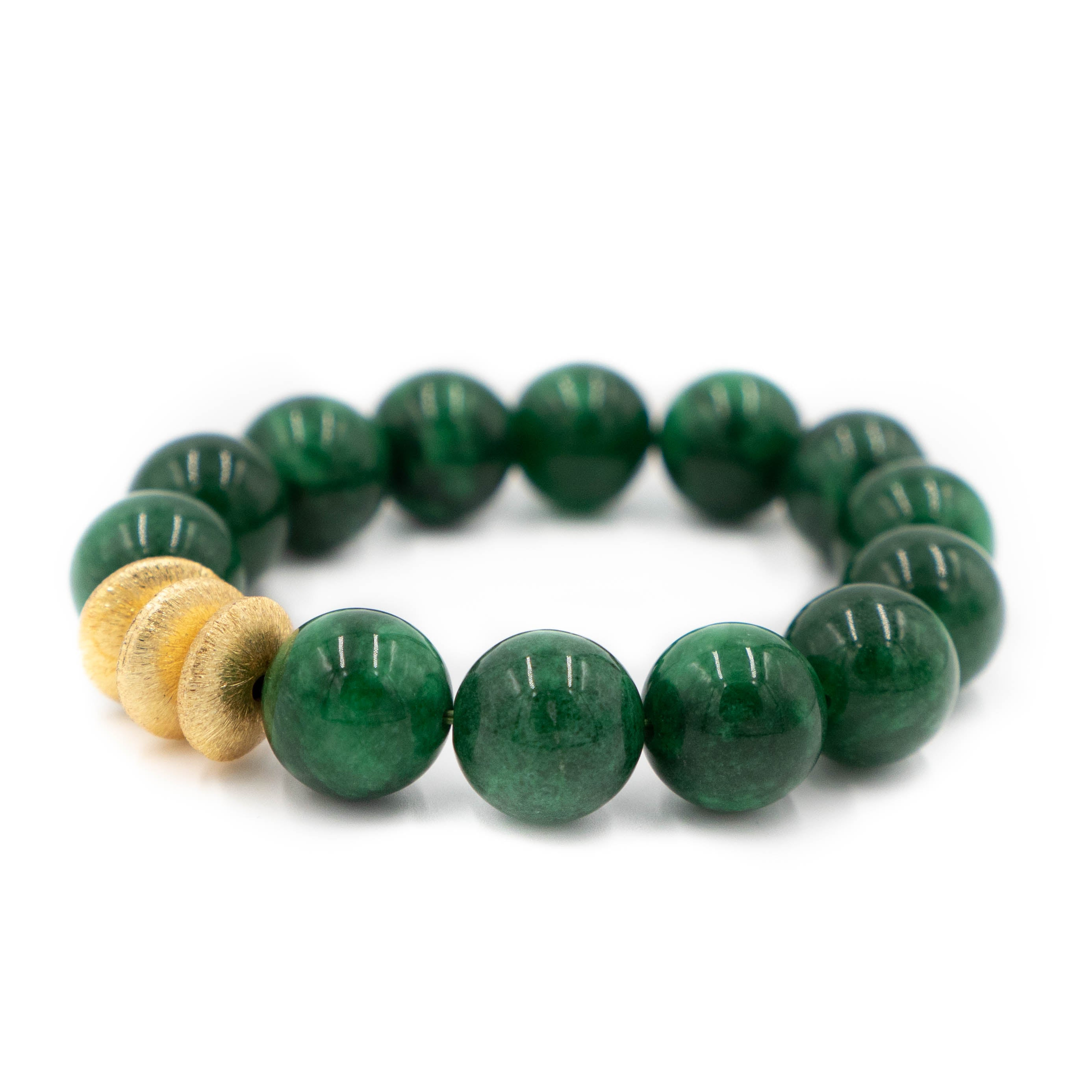 Sheldon Bracelet, Kelly Green Jade