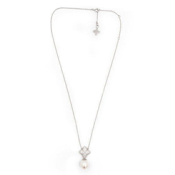 Alicia Set, Silver with Freshwater Pearl Charm