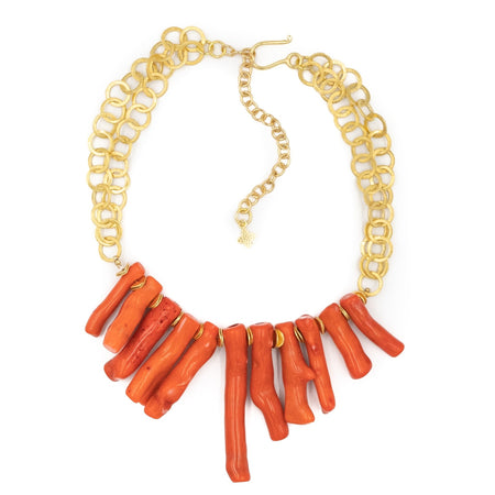 Tulum Necklace, Coral