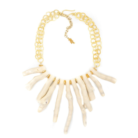 Tulum Necklace, White Coral