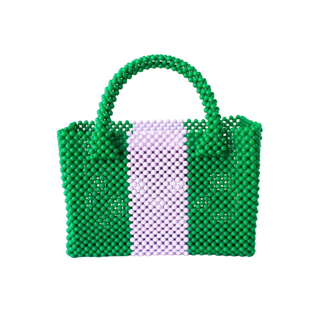Katherine Handbag Mini, Green and Lavender