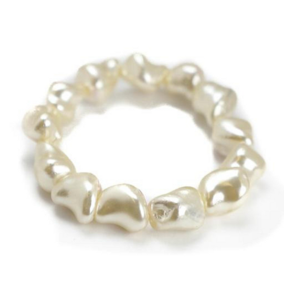 Minnie Bracelet, White Pearl