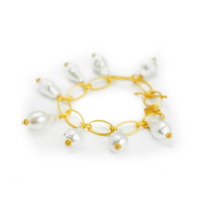 Tracy Bracelet, White Baroque