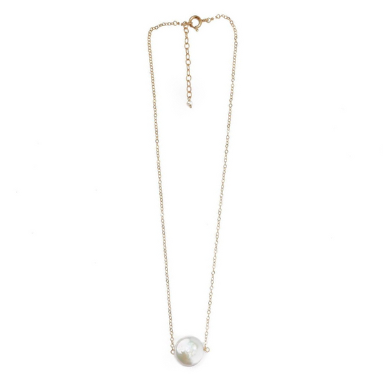 Annie Coin Pearl Necklace, Hazen