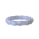 Bamboo Bangle, Periwinkle Lace Agate