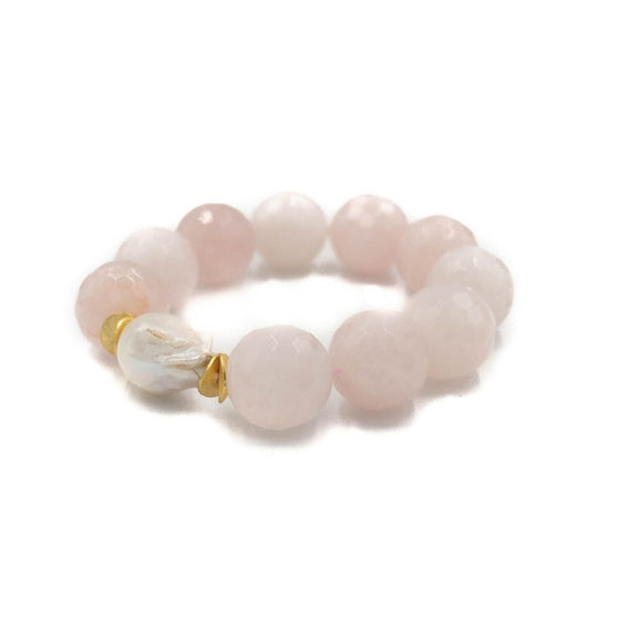 Providence Bracelet Large, Rose Quartz