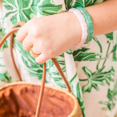 Bamboo Bangle, Jade