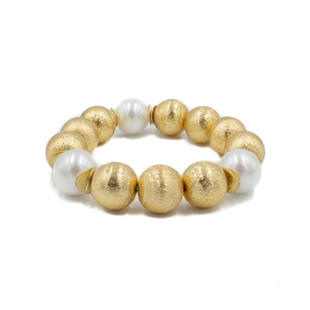 Madison Bracelet, White Pearl
