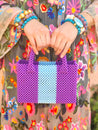 Katherine Handbag Mini, Violet and Blue