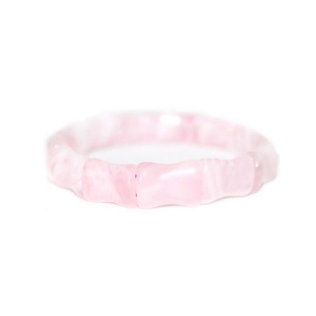 Bamboo Bangle, Rose Quartz