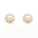 marie earring, single pearl