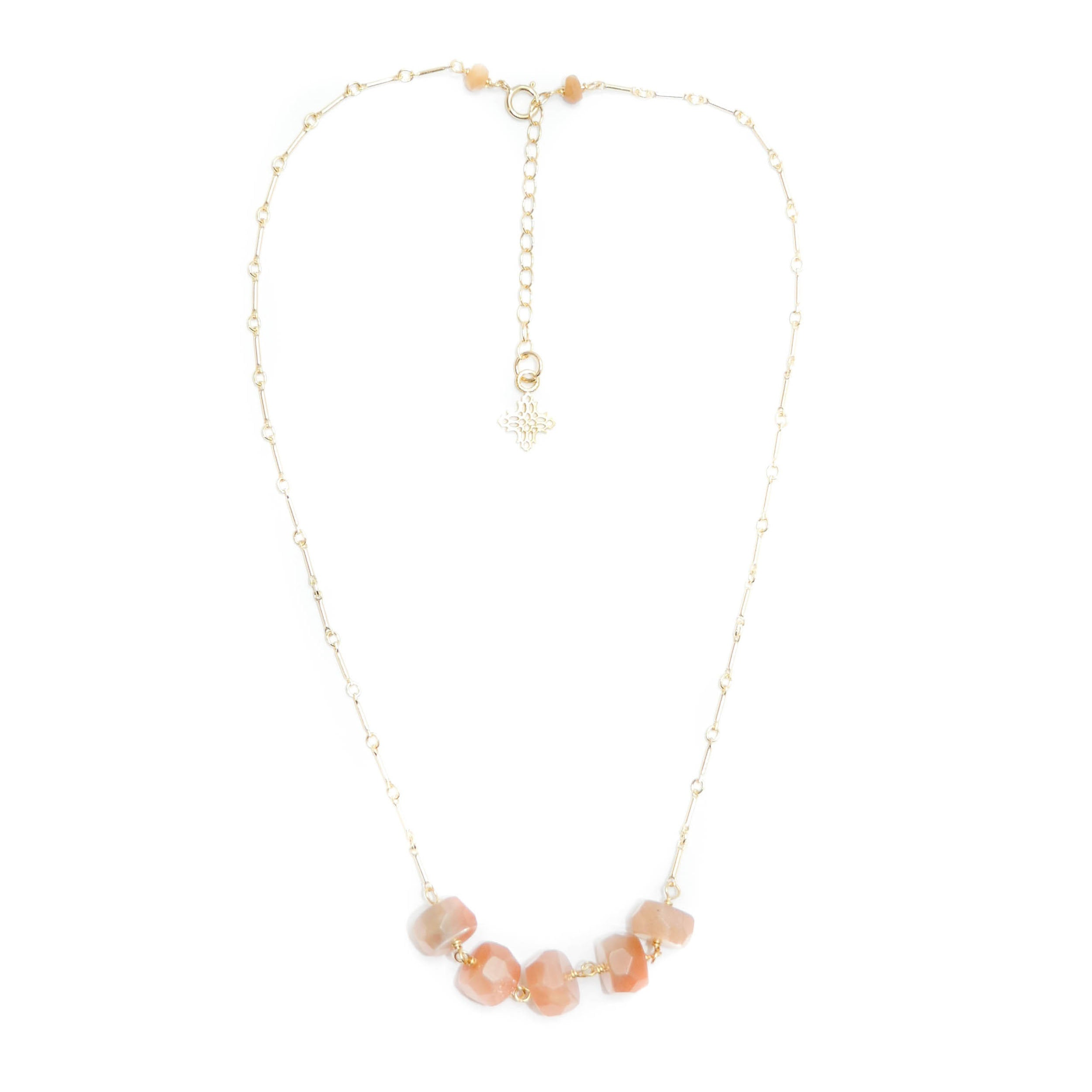 Concord	Necklace, Orange Moonstone