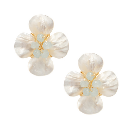 hazen & co. poppy earring, aquamarine