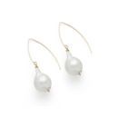 Laurel Earring, White Pearl, Gold