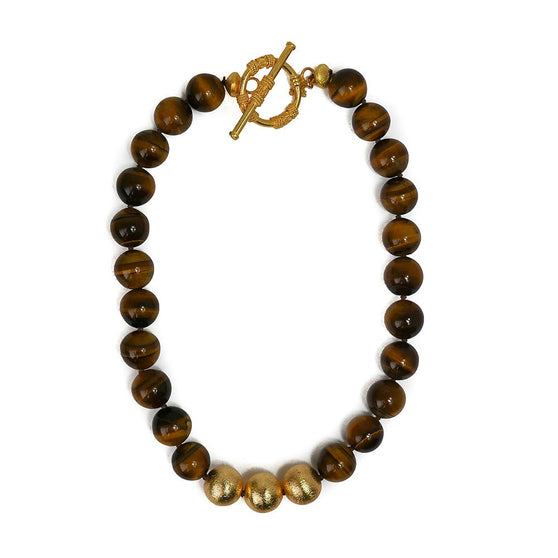 Collier Necklace, Tiger Eye