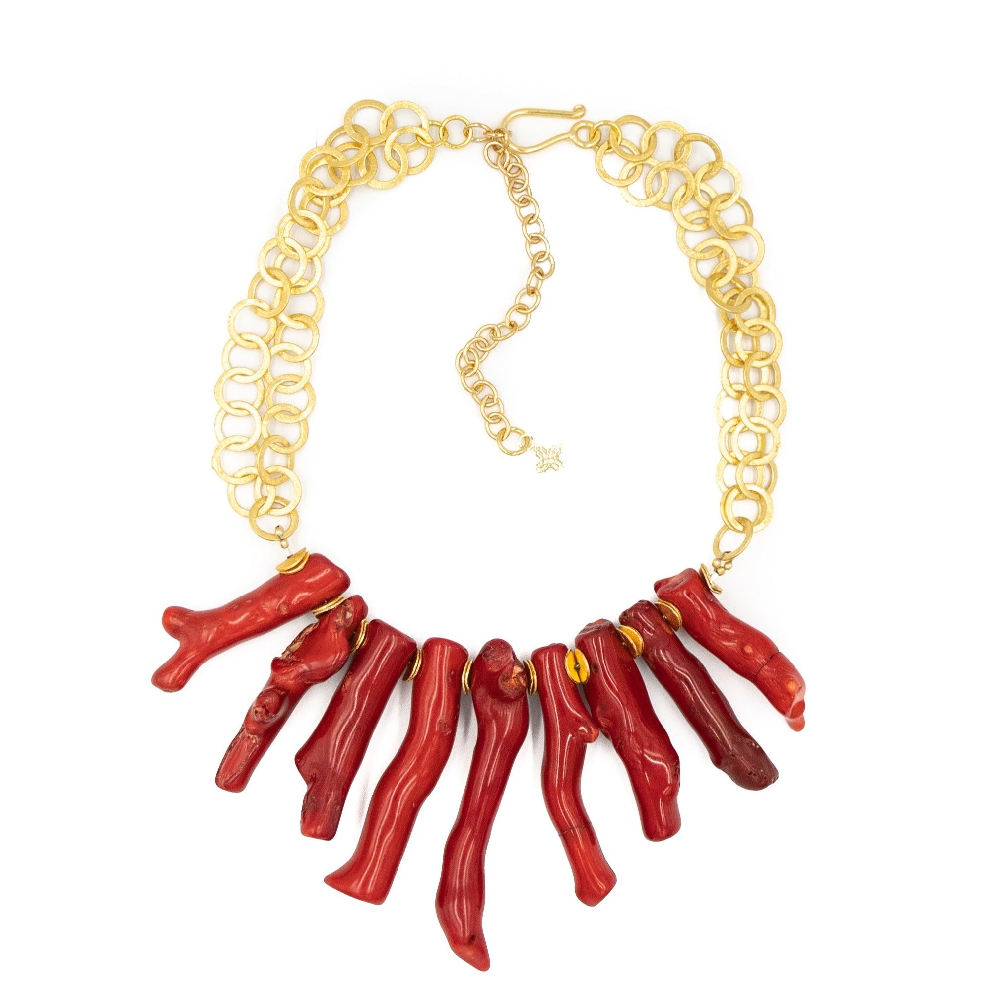 Tulum Necklace,Red Coral