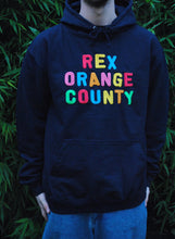 Rex Orange County Embroidered Hoodie | Navy