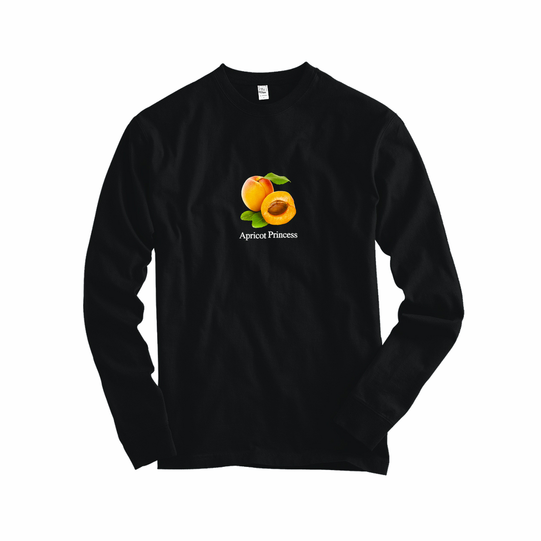 Apricot Princess Long Sleeve Tee (Black)