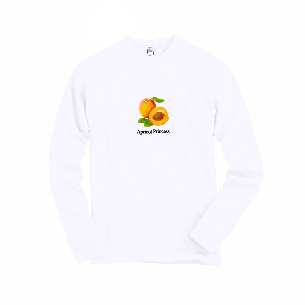 Apricot Princess Long Sleeve Tee (White)