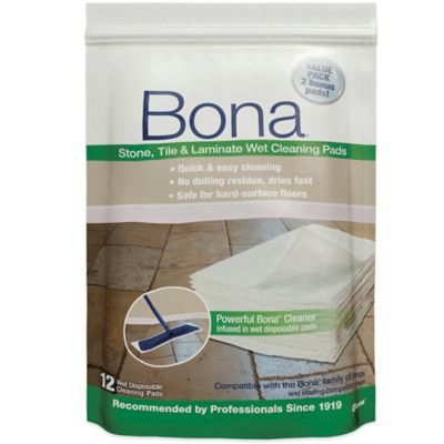 Bona Stone, Tile, Laminate Wet Cleaning Pads 12/pk